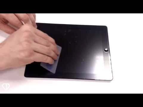 Apply a Clear Diamond Screen Protector Without Bubbles - Tablets & iPads
