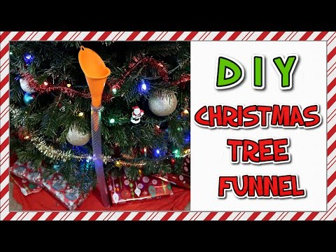 How To Make A Christmas Tree Funnel   EASY DIY