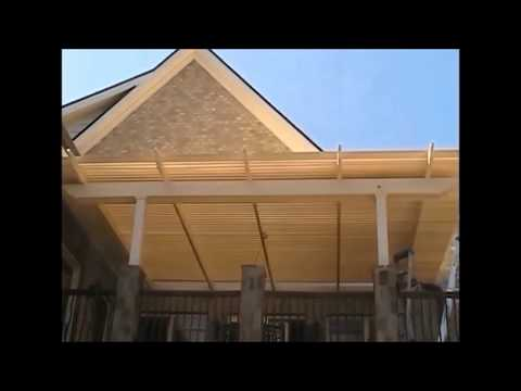 Adjustable Louvered Pergola Opening & Closing