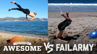 Yoga Ball Tricks & Flips | People Are Awesome vs. FailArmy