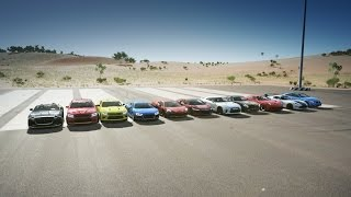 Forza Horizon 3: World's Greatest Drag Race! F12, Audi R8, GT-R, 570S, NSX & More!