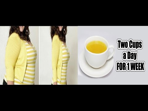 How To Get A Flat Stomach In 1 WEEK Only Two Cups A Day !