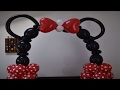 DIY Super Simple Minnie Mouse Balloon arch tutorial  How to make a minnie mouse decorations