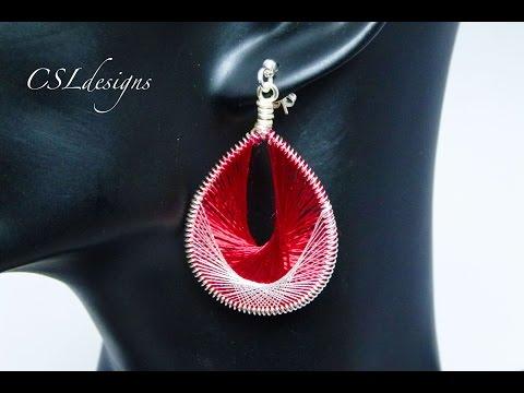 Threading wirework earrings