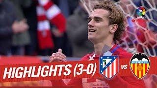 Resumen de Atlético de Madrid vs Valencia CF (3-0)