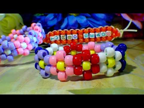 TurboBeads: Flower Cuff Bead Bracelet Tutorial