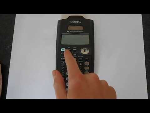 How to Change the Number of Decimal Places on A TI-36x Pro