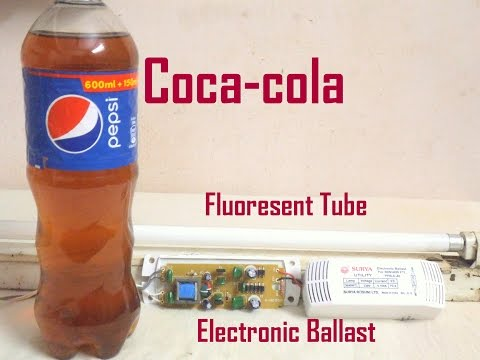 Coca-cola + Fluorescent Tube Electronic Ballast Super Combination they tougher Called  Pop Cracker
