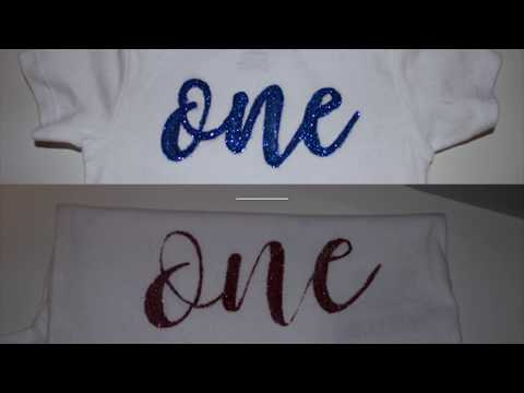 Tutorial: DIY glitter words on onesies, NO CRICUT NEEDED