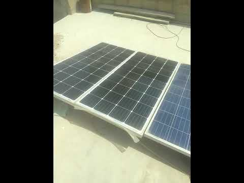 How to connect Solar plates? (Urdu /Hindi)