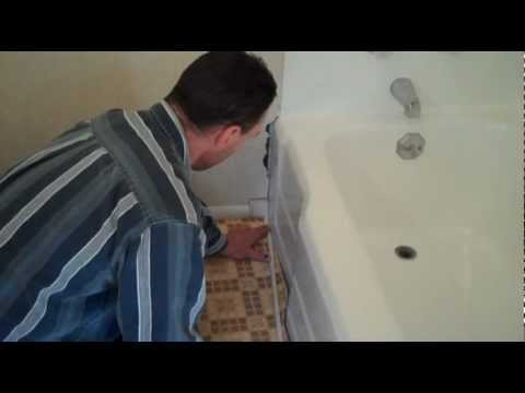 How to refinish a bath tub and repair surrounding tub enclosure