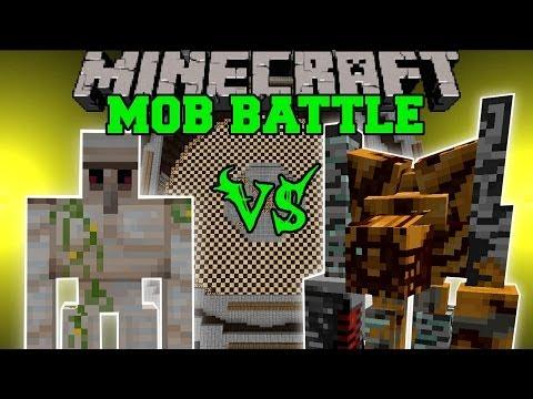 IRON GOLEM VS PUMPKIN GOLEM ALTER - Minecraft Mob Battles - Pumpkin Patch Mod