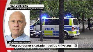Minst tre skadade i troligt knivbråk i centrala Stockholm - Nyheterna (TV4)