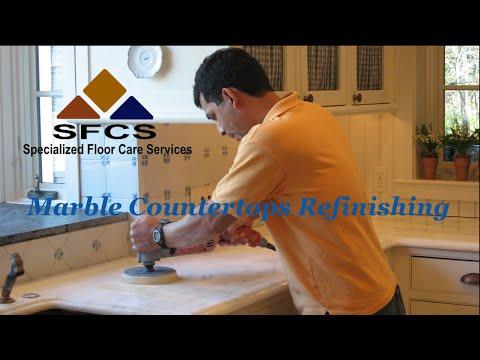 Marble Countertop Refinishing Polishing Massachusetts Rhode Island