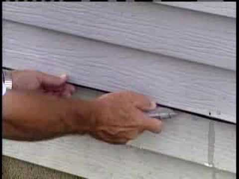 Do-it-yourself siding repairs