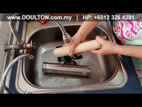 Demo: How to clean Doulton HISPF M12 Under Counter Biotect Ultra Filter