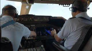 HEAVY BOEING 747 TAKEOFF FROM ATLANTA.  long run on the runway from V1 to Vr