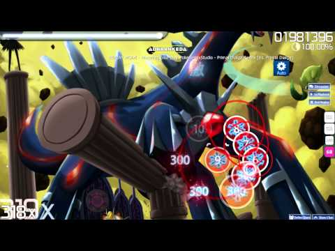 osu!   Pokemon Mystery Dungeon Primal Dialga Remix - Hardest Difficulty - Auto