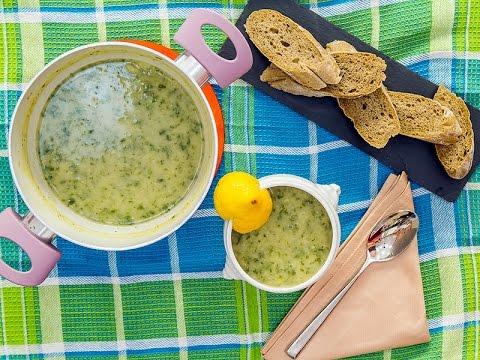 Supe me fasule dhe rukola - Soup with beans and arugula