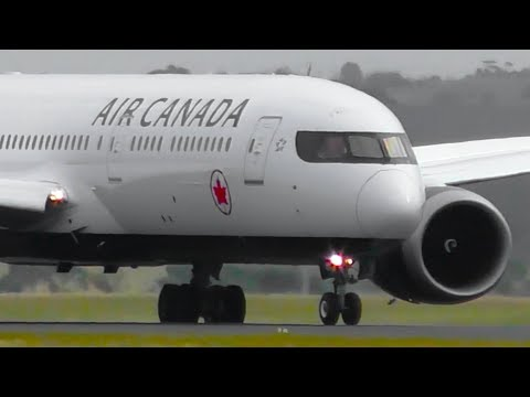 INAUGURAL | Air Canada Boeing 787-9 NEW LIVERY Landing & Takeoff ● Melbourne Airport Plane Spotting