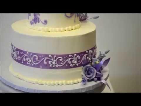 Lavender & Silver Dreams - Lavender Wedding Cake - Wedding cake ideas