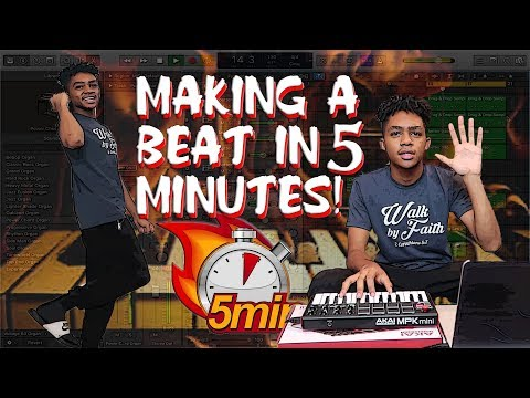 MAKING A BEAT IN 5 MINUTES CHALLENGE!!! (CRAZY FREESTYLE)