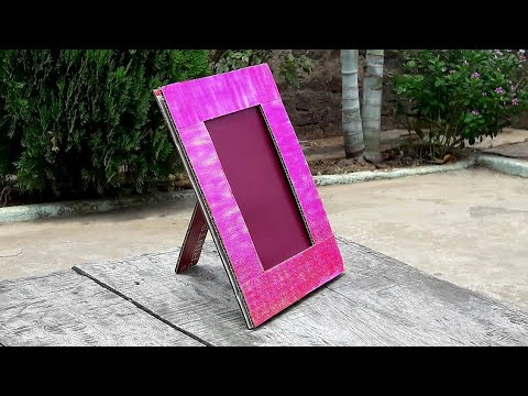 How to make a photo frame at home with cardboard
