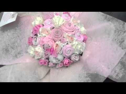 Cotton Candy pink baby clothing bouquet