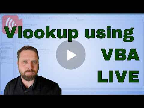 Vlookup in VBA - Live Weekend Workshop