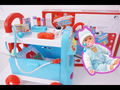 Baby Pretty Little Ambulance Car  Toys|| Baby Belly Pain Intervention || Tia Tia