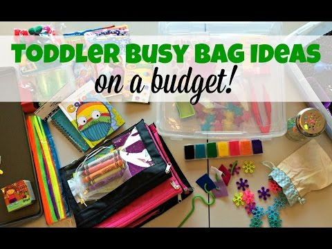 TODDLER BUSY BAG IDEAS (on a budget!)