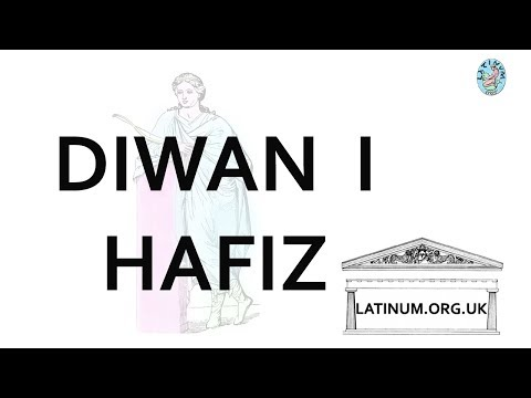 Diwan I Hafiz Latin translation of a poem from the Persian