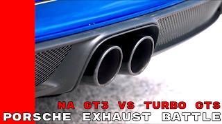 Exhaust Sound - 2018 Porsche 911 GT3 vs 911 Carrera GTS - NA vs Turbo
