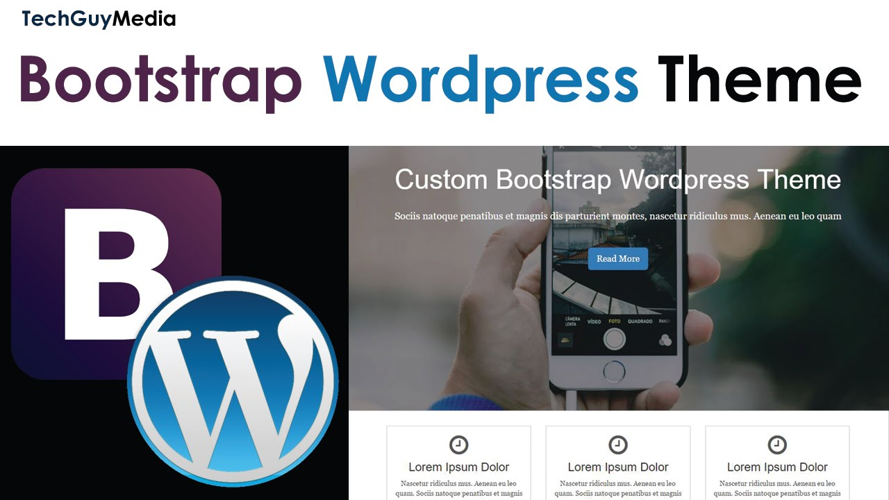 Wordpress Theme With Bootstrap [1] - Intro and HTML