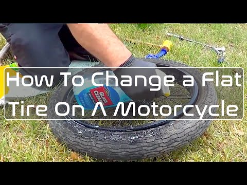 How to Change a Flat Tire on a Motorcycle: Honda CB450 / CB350 / CB360