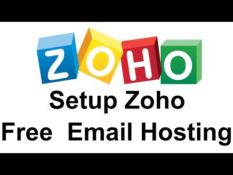 How To Setup Zoho Free Mail Hosting  For Your Own Domain
