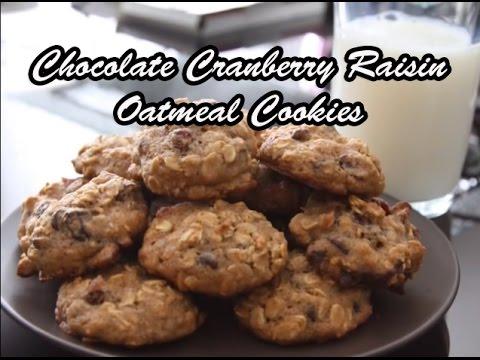 Chocolate Cranberry Raisin Oatmeal Cookies