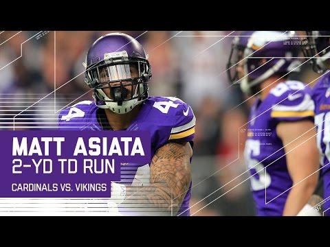 Patterson's Long Catch & Vikings Trick Play Sets Up Asiata's TD! | Cardinals vs. Vikings | NFL