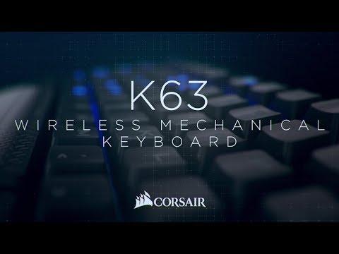 CORSAIR K63 Wireless Mechanical Gaming Keyboard - • Wireless Freedom, Mechanical Performance