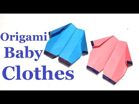 Origami Baby Clothes:How To Make an Origami Baby Clothes Easy Step-by-Step|Nice Paper Baby Clothes