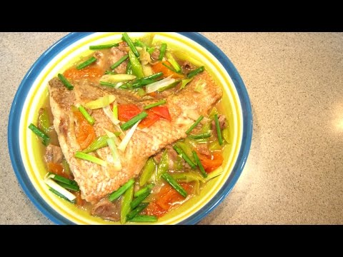 Braised Fish With Leeks
