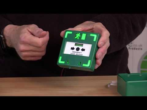 Green Emergency Call Point   Illuminated   Audible   Tripple Pole   LocksOnline Product Review