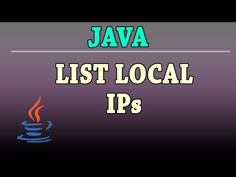 Java List Local Ips in this PC