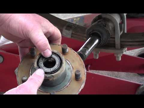 Pt.1 Boat Trailer Bearing Service At D-Ray's Shop