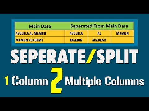 Text to Columns: How to Split text into different columns || Separate Data to Multiple Columns