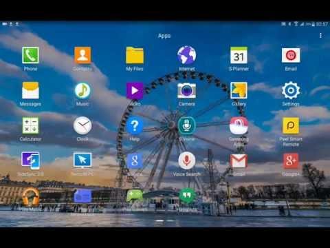 Samsung GALAXY Tab S : Shortcut applications menu