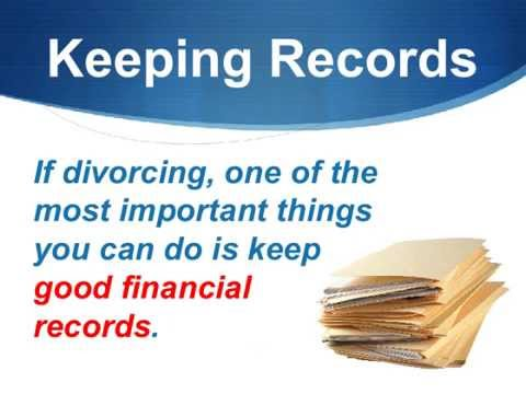 Keep All Financial Records For Divorce in California