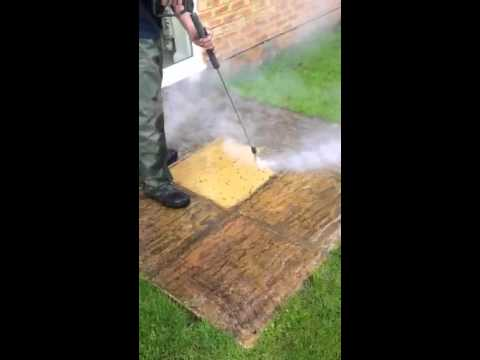 Steam cleaning patio cleaning