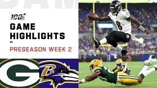 Packers vs. Ravens Preseason Week 2 Highlights | NFL 2019