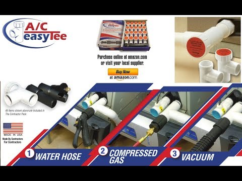 A/C Easy Tee Condensate Line Service Port System by Easy Solution Technologies, Inc.